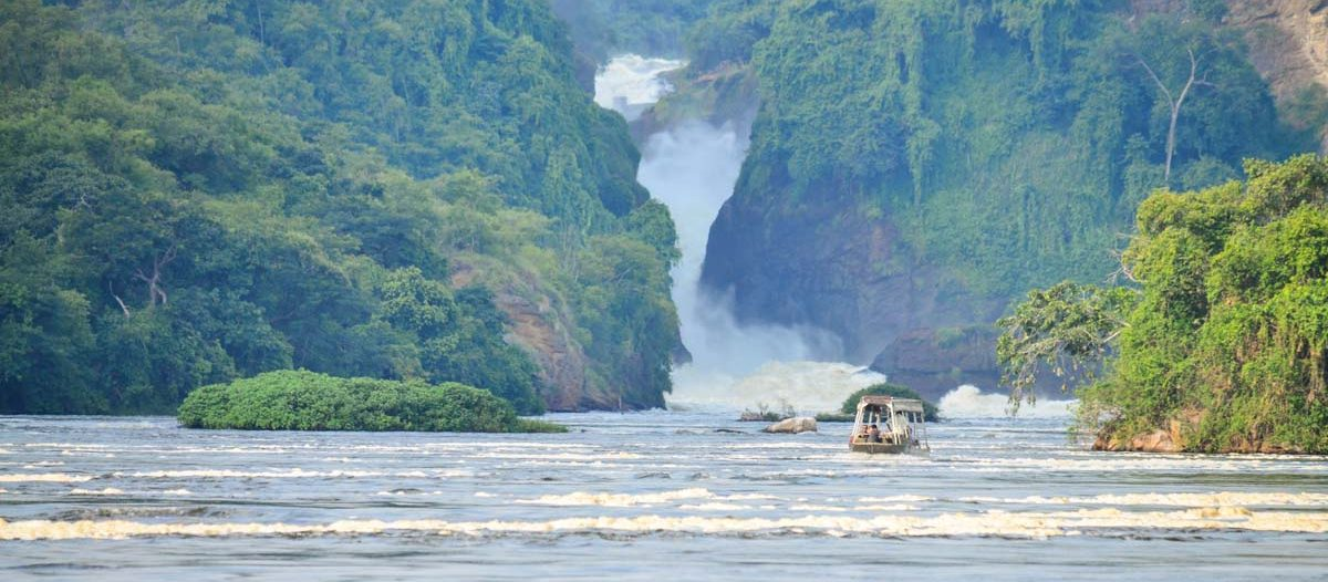 Murchison Falls from the bottom